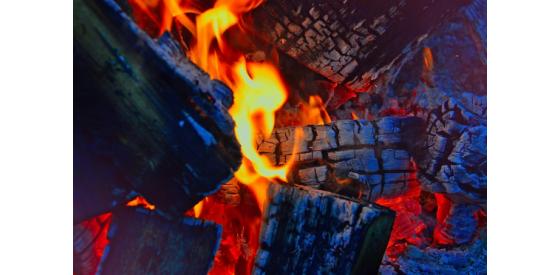Charcoals burning