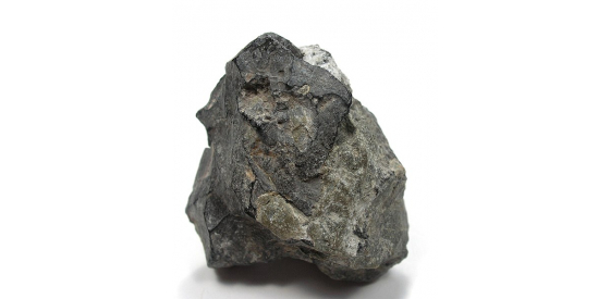 Piece of arsenic rock that is dark gray.