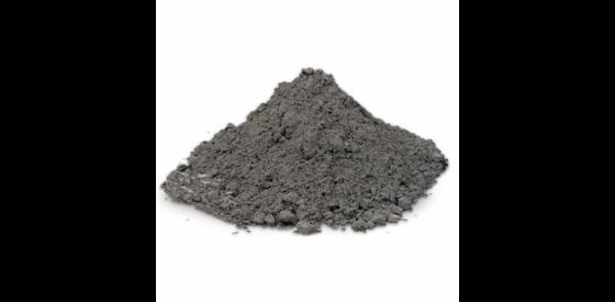 Pile of boron powder that is dark gray