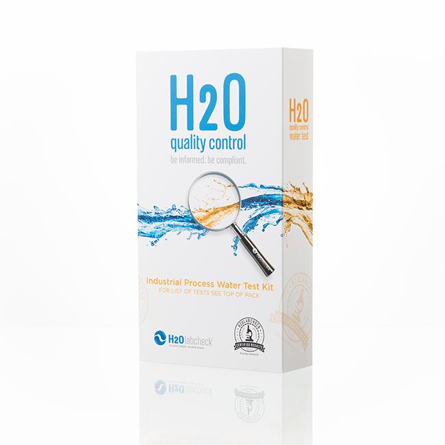 Ship's Ballast Water Contamination Test (closed) : white box, h2olabcheck logo, test name on it