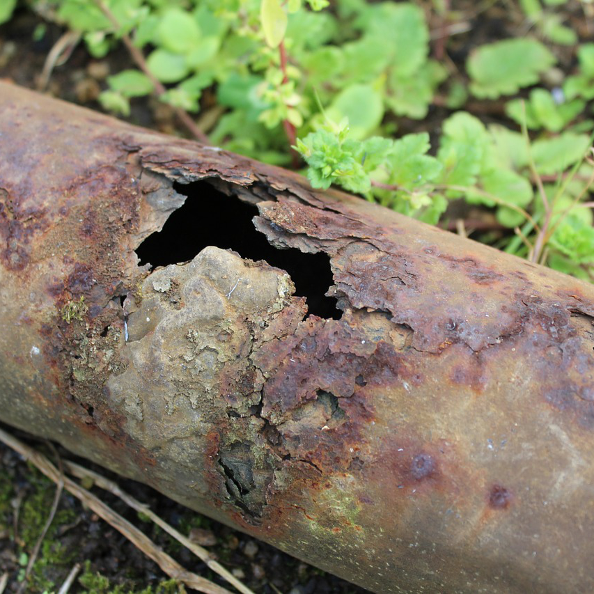 rusted pipe