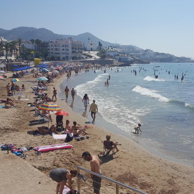 Crowded beach